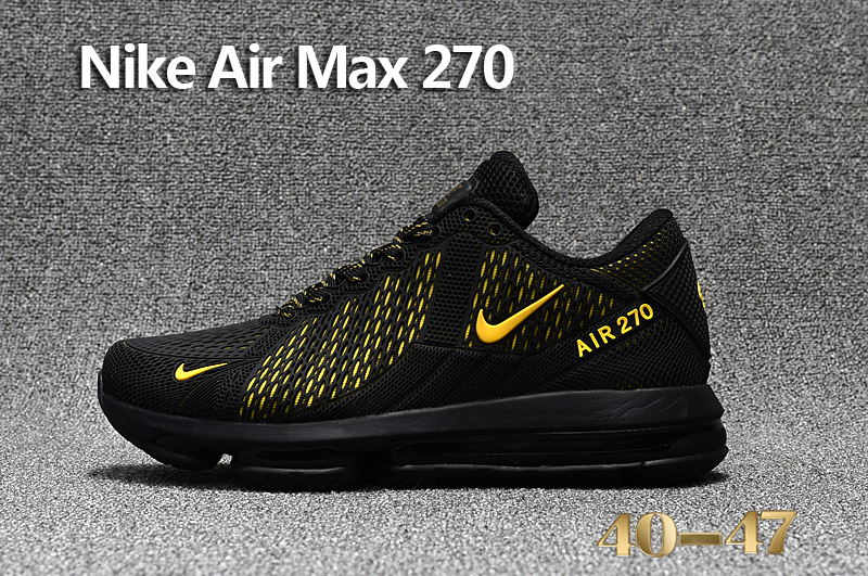 sneakers sports nike air max 270 running chaussures gold logo